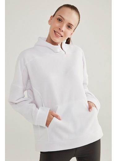 Penti Performer Polar Sweatshirt Beyaz